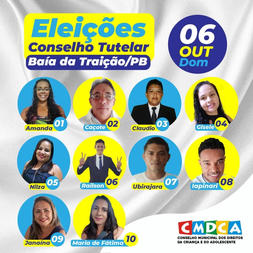 Candidatos a Conselheiros Tutelares nas Eleições de 2019