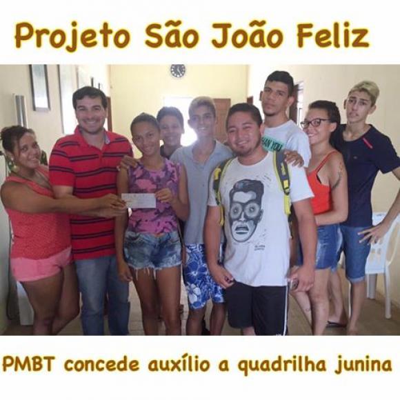 PMBT -  Concede Auxílio a Quadrilha Junina